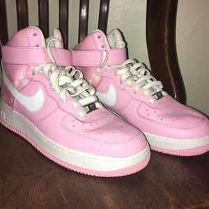 Nike Jordan's Air Force 1 Hi Top Pink